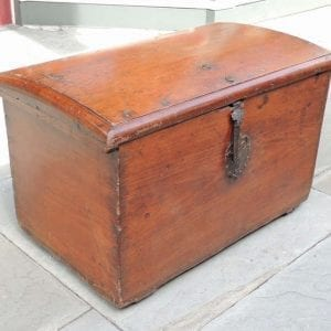 17th Century Cuban Mahogany Trunk