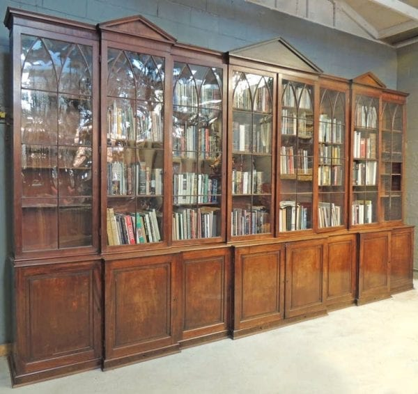 18th Century English Mahogany and Pine Secondary Breakfront
