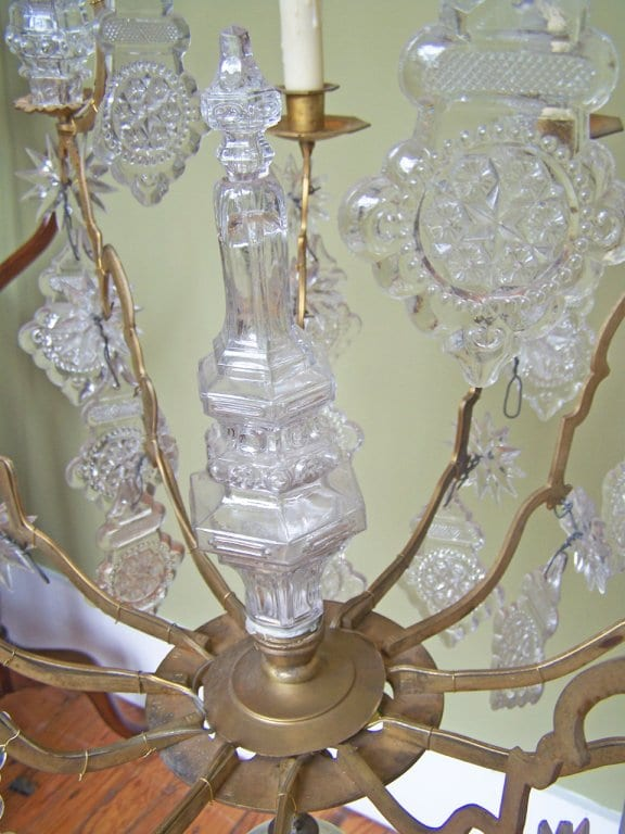 18th Century Venetian Rococo Crystal and Bronze Chandelier
