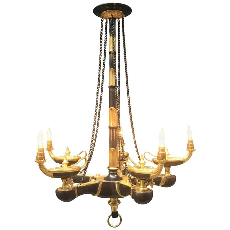 Mid-19th Century French Bronze Chandelier