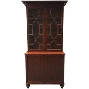 19th Century Barbados Regency Mahogany Bookcase or China Cabinet
