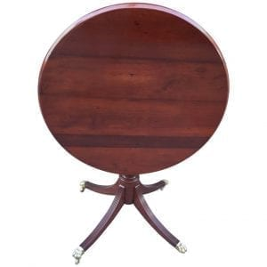 19th Century Regency Mahogany Barbados Tilt-Top Tea Table