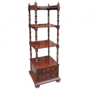 19th Century English Regency Mahogany Library Stand