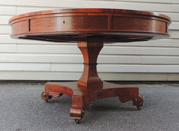19th Century English Regency Library Table with Writing Slide
