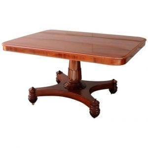 19th Century English Regency Mahogany Tilt-Top Breakfast Table