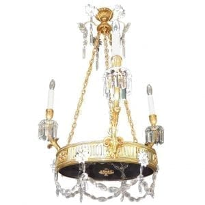 19th Century French Régence Bronze Chandelier