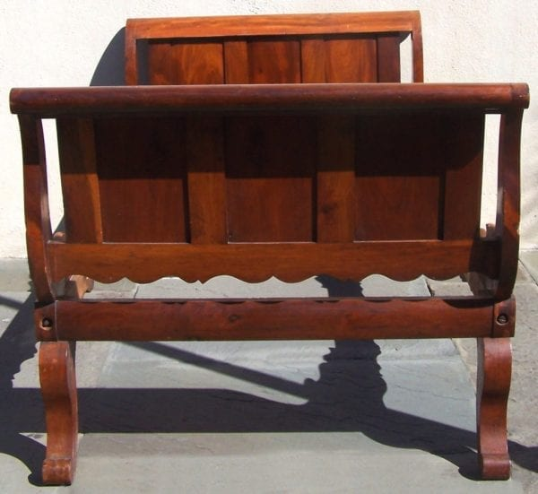 Rare Labeled 19th Century Haitian French Colonial Day Bed from the West Indies