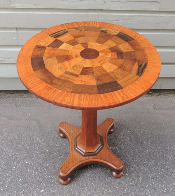 19th Century Jamaican Mahogany Round Specimen Table, attributed to Ralph Turnbull