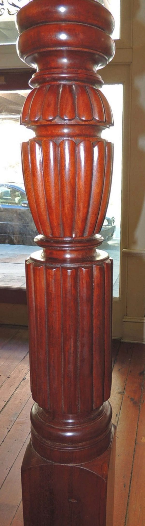 19th Century Jamaican Mahogany Waterfall Bed