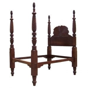 19th Century Jamaican Regency Mahogany Pineapple Bed