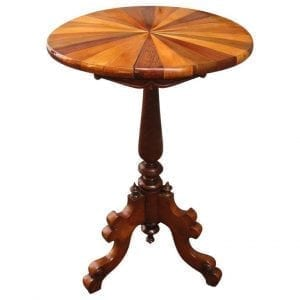 19th Century West Indies Tobagonian Specimen Wood Tripod Table Made for 1885 Exhibition