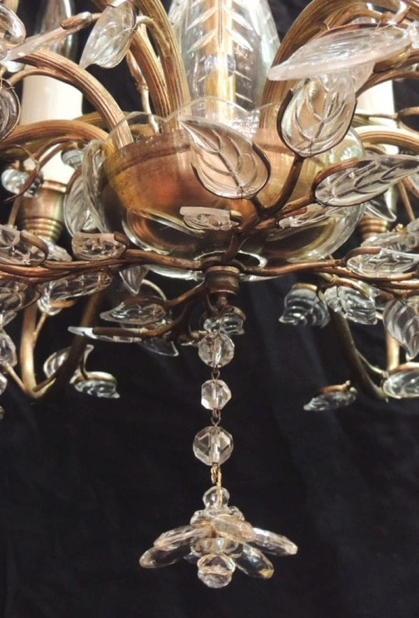 20th Century German Crystal Maison Bagues-style Stamped Chandelier