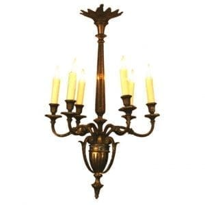 20th Century Italian Adam Style Bronze Chandelier