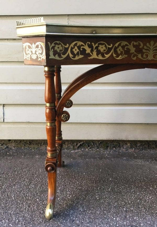 Early 19th Century English Regency Rosewood Library or Dressing Table