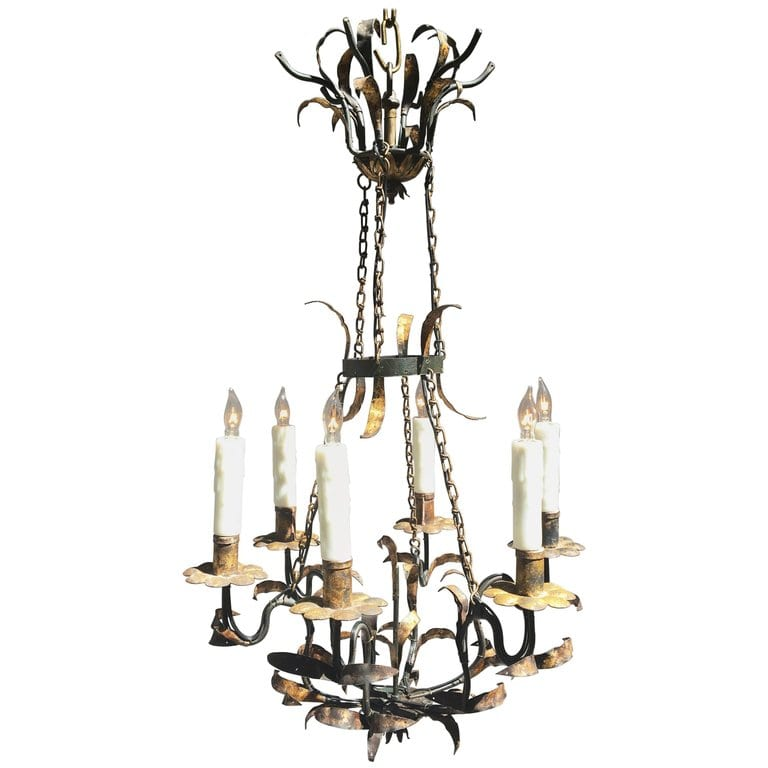 Early 19th Century Italian Wrought Iron Chandelier