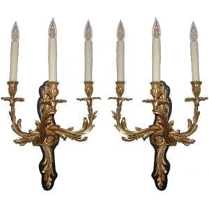 Pair of 20th Century French Bronze Sconces