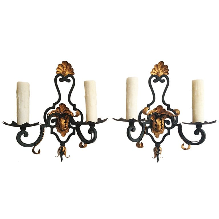 Pair of 20th Century French Sconces