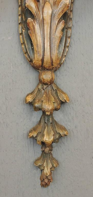 Pair of 20th Century Italian Carved Wood Sconces