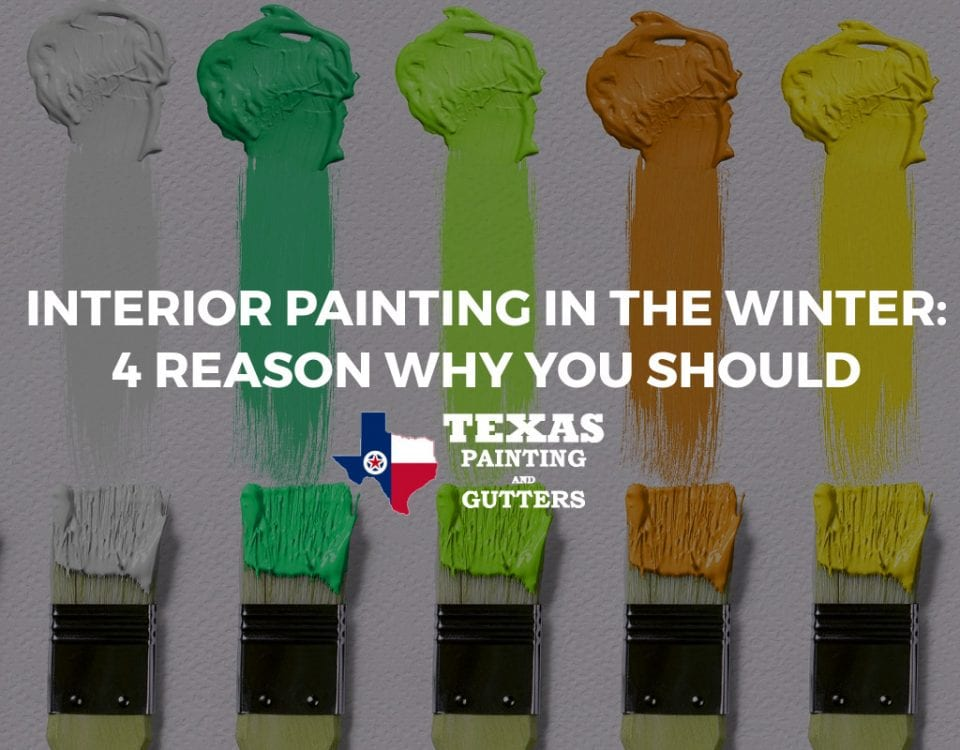 Interior Painting in Winter in Plano, TX