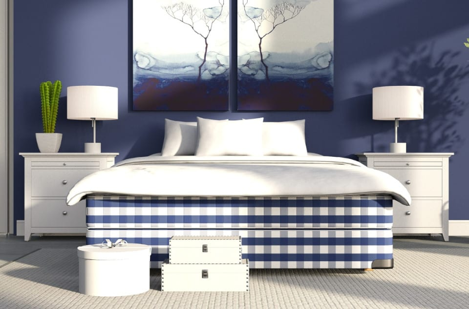 Blue Bedroom Painting Idea in Plano, TX