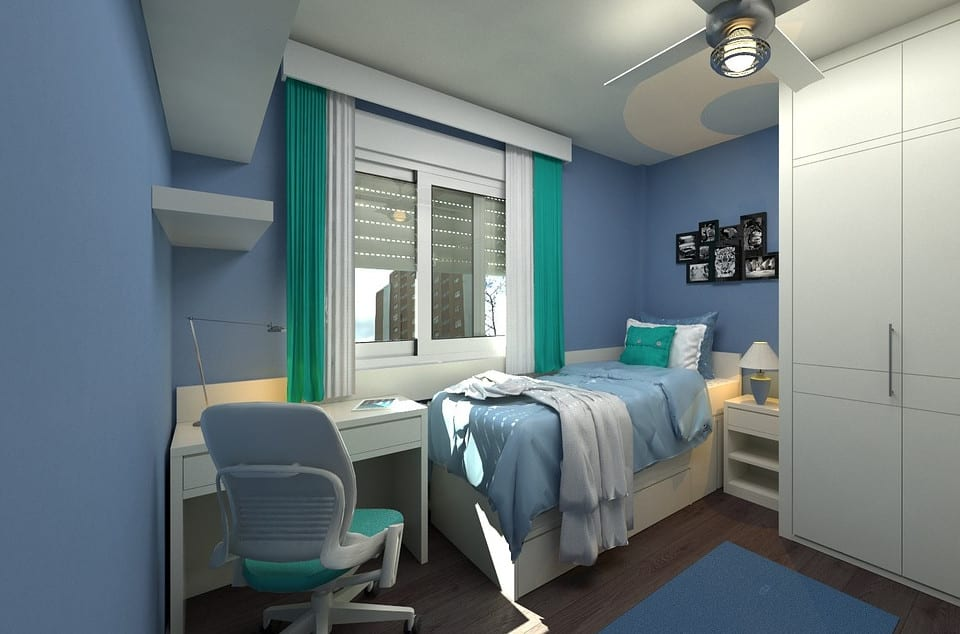 Light Blue Kids Bedroom Paint Concept in North Texas