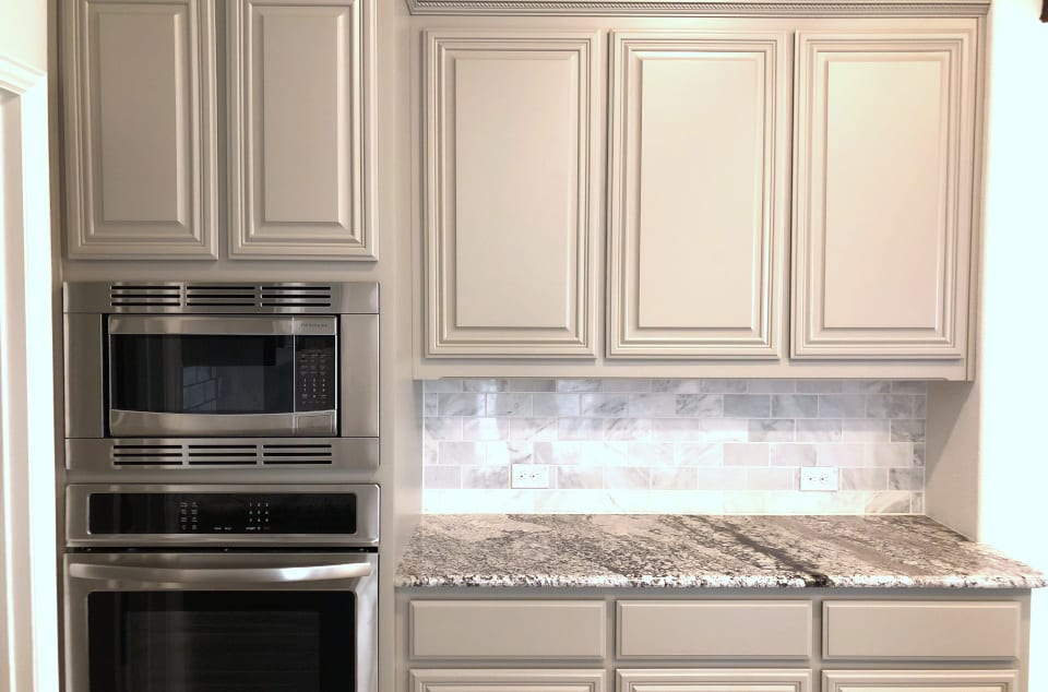 Grey Painted Cabinets McKinney TX