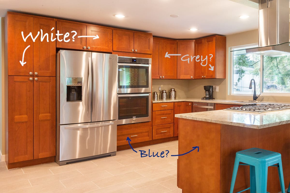 Can You Paint Wood Cabinets White : Should I Paint My ...