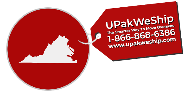International Shipping From Virginia With UPakWeShip
