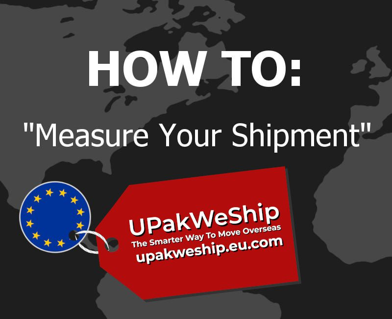 How To Measure Your International Shipment